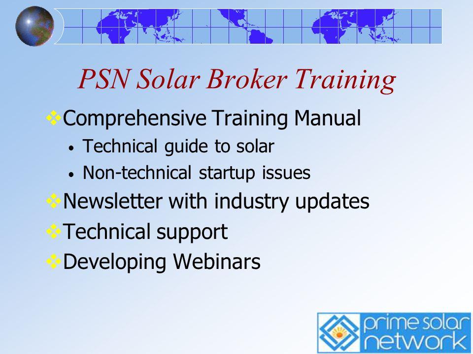 PSN Solar Broker Training