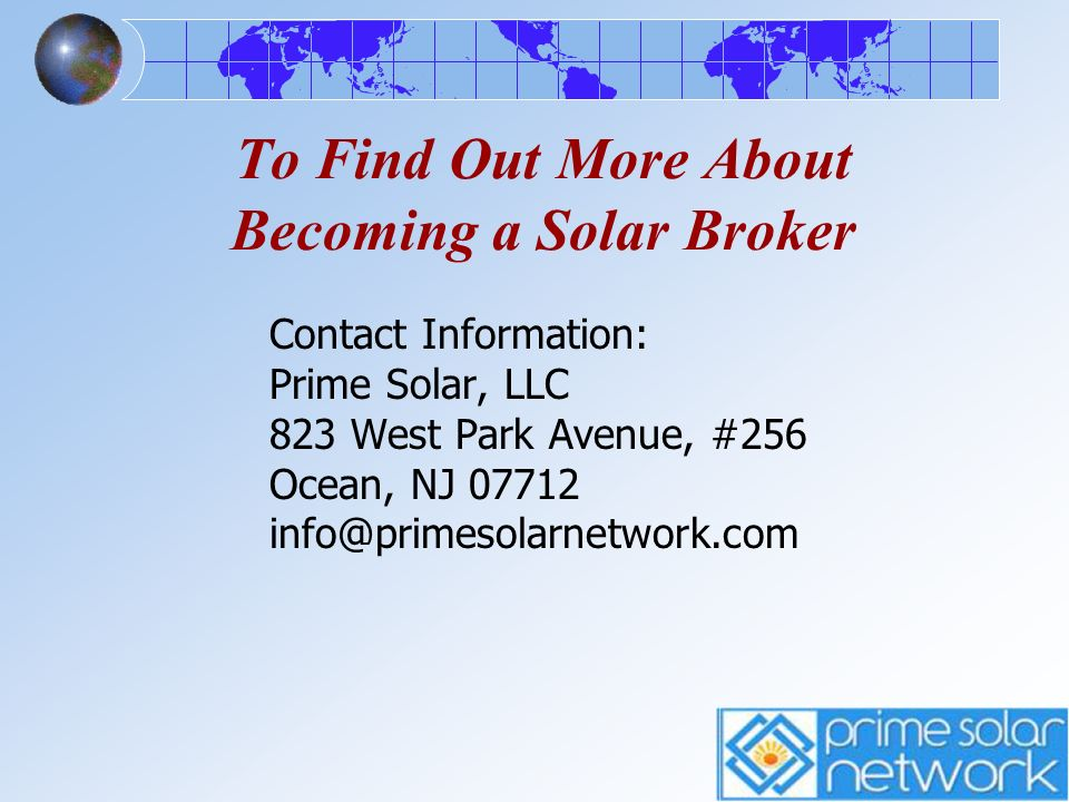 To Find Out More About Becoming a Solar Broker