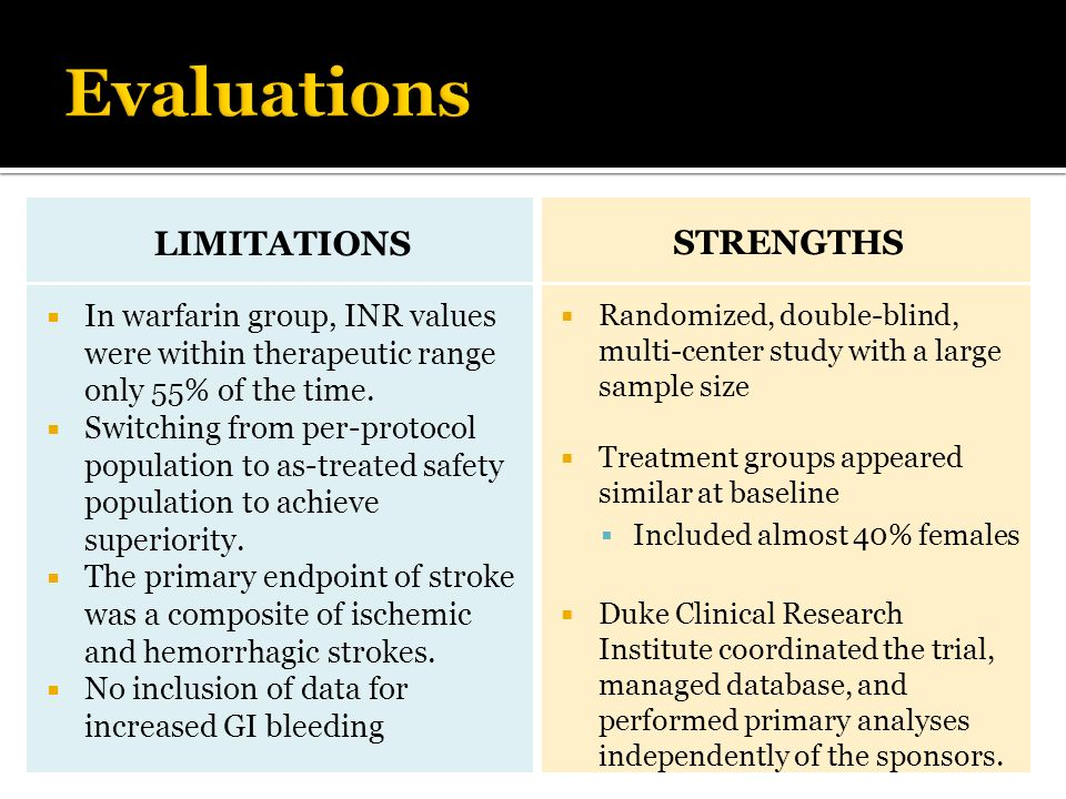 Evaluations limitations Strengths