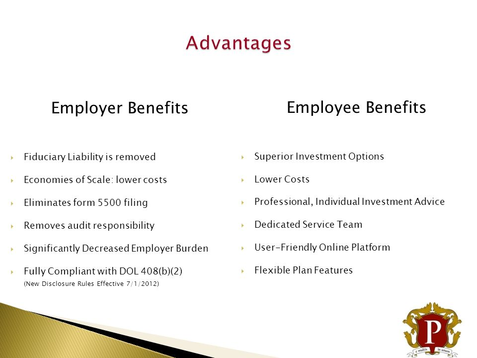 Advantages Employee Benefits Employer Benefits