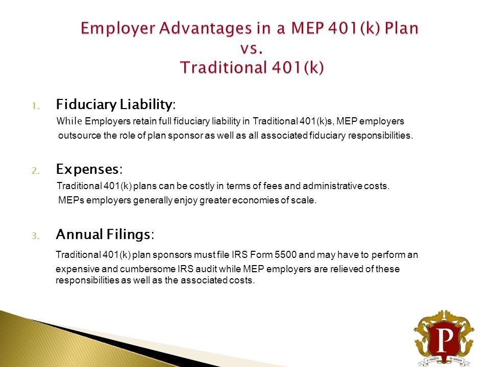 advantages of 401k plan