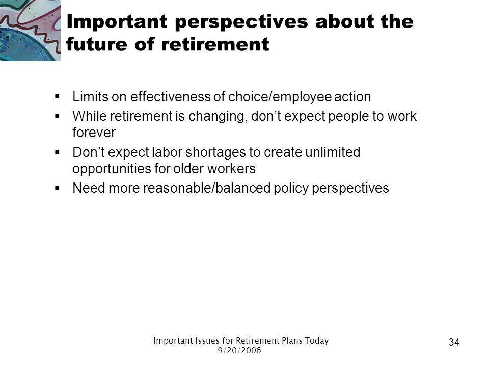 Important perspectives about the future of retirement