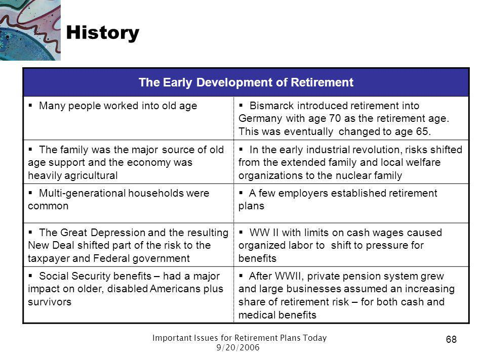 The Early Development of Retirement