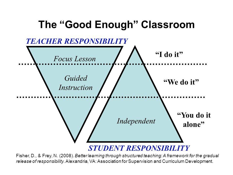 The Good Enough Classroom