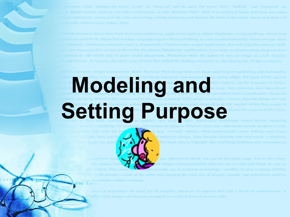 Modeling and Setting Purpose