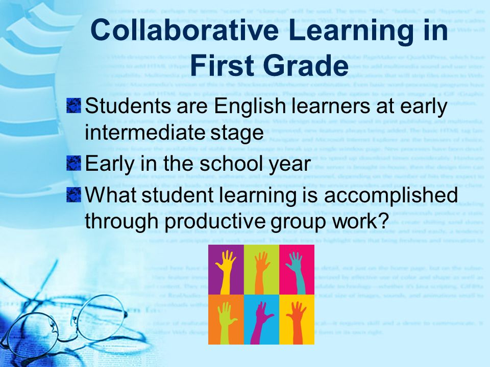 Collaborative Learning in First Grade