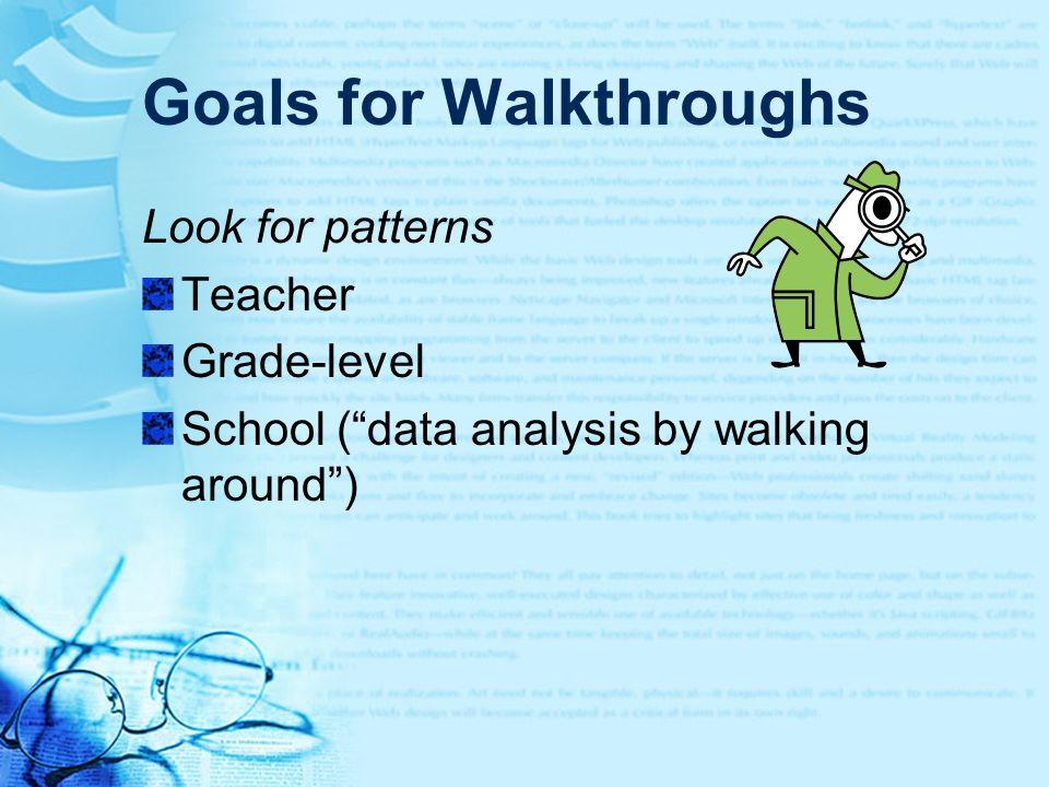 Goals for Walkthroughs