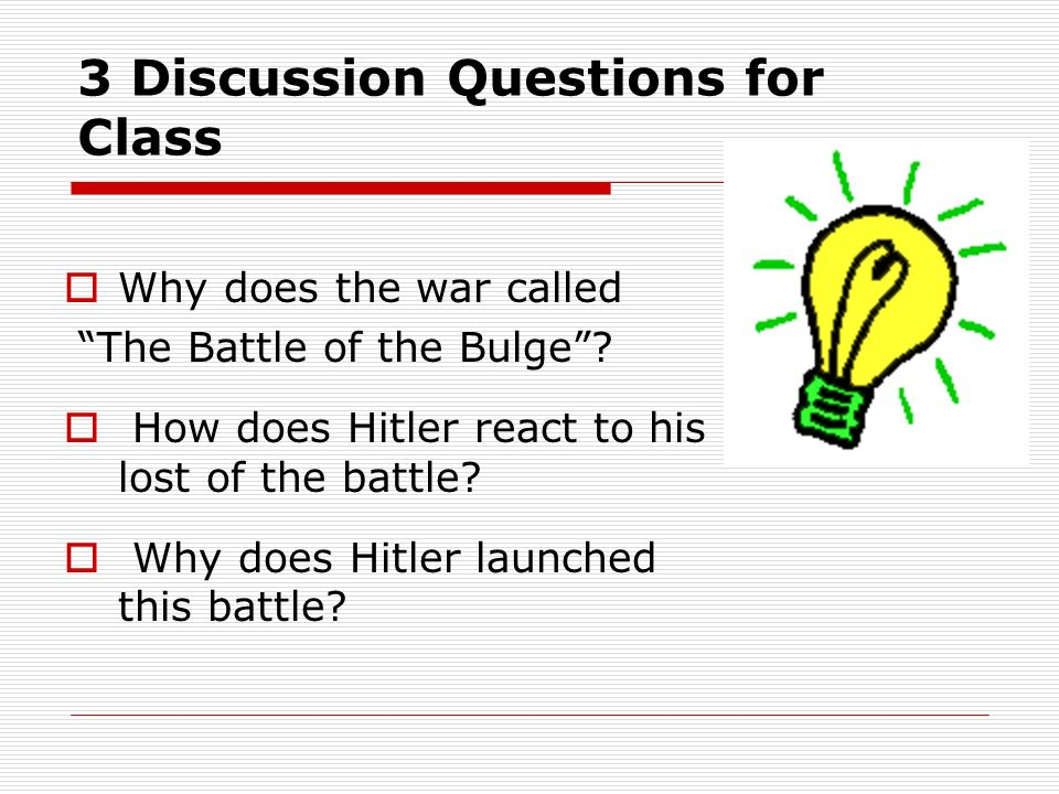 3 Discussion Questions for Class