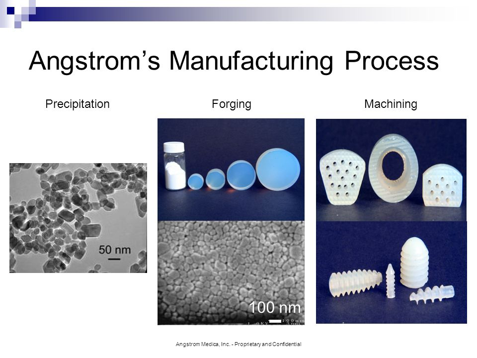 Angstrom's Manufacturing Process