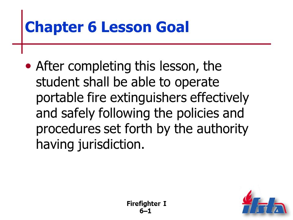Chapter 6 Lesson Goal