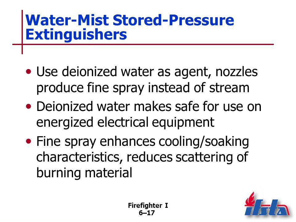 Water-Mist Stored-Pressure Extinguishers