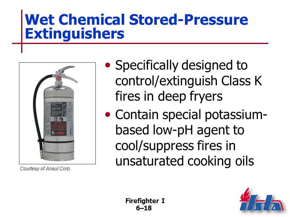 Wet Chemical Stored-Pressure Extinguishers