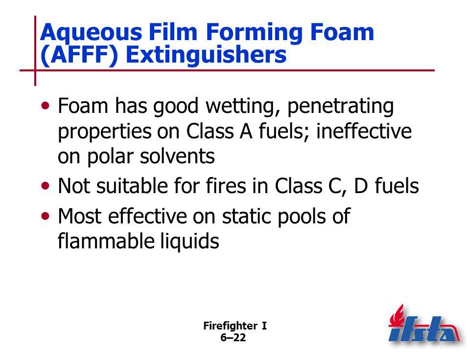 Aqueous Film Forming Foam (AFFF) Extinguishers