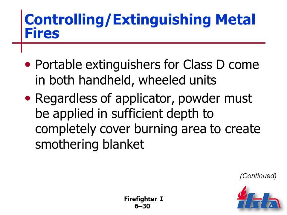 Controlling/Extinguishing Metal Fires