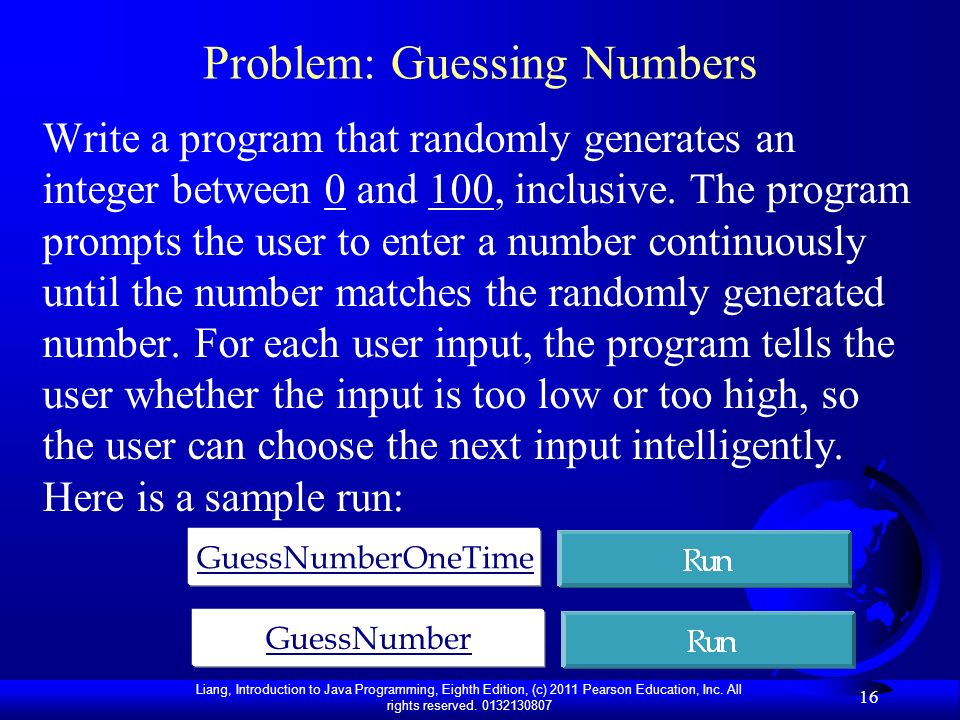 Problem: Guessing Numbers