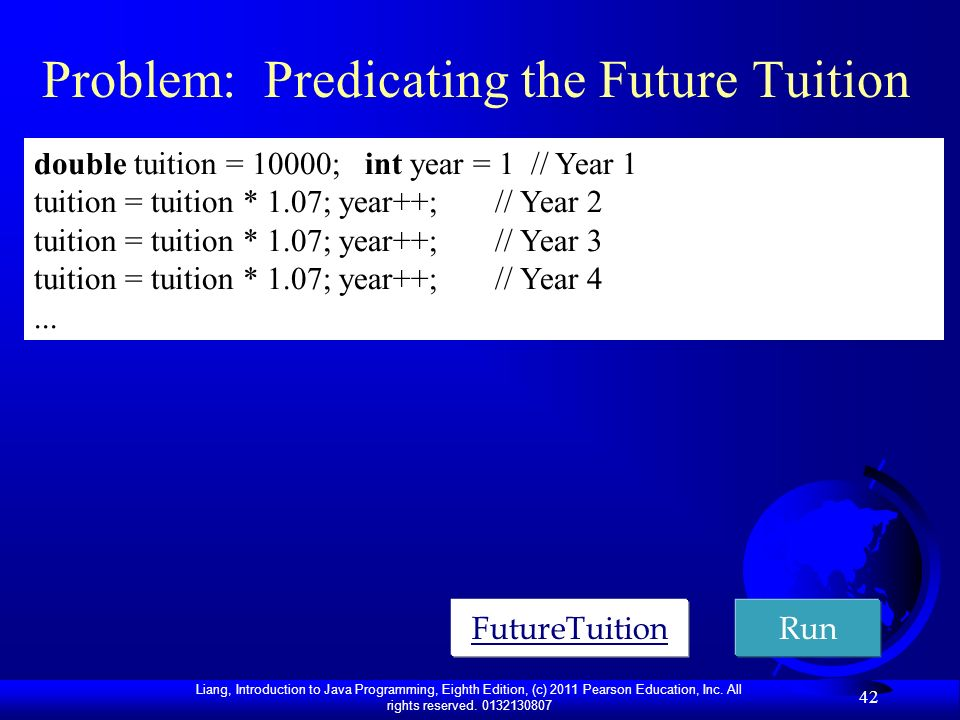 Problem: Predicating the Future Tuition