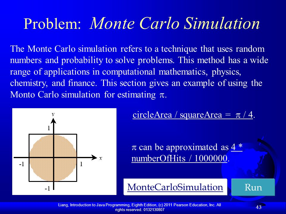 Problem: Monte Carlo Simulation