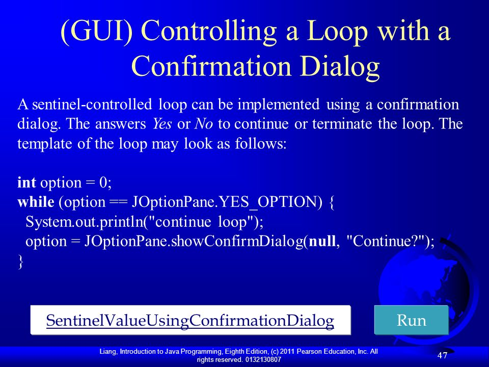 (GUI) Controlling a Loop with a Confirmation Dialog