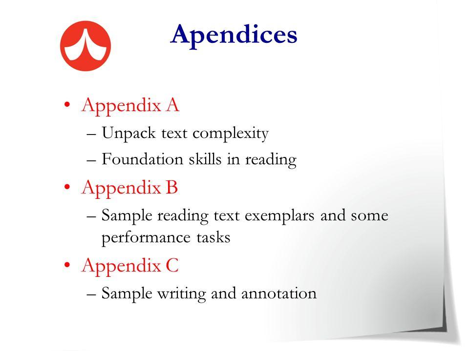 Apendices Appendix A Appendix B Appendix C Unpack text complexity