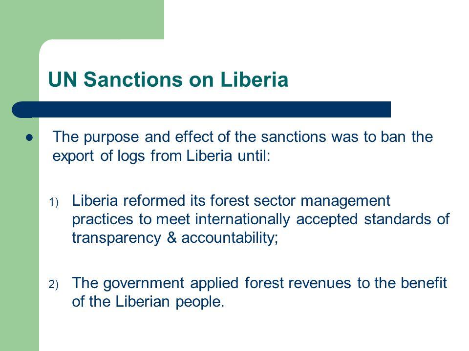 UN Sanctions on Liberia