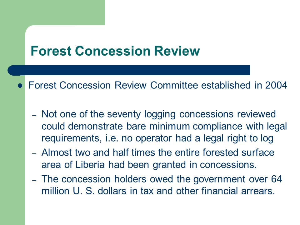 Forest Concession Review