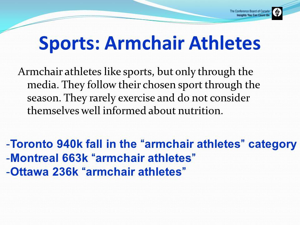 Sports: Armchair Athletes
