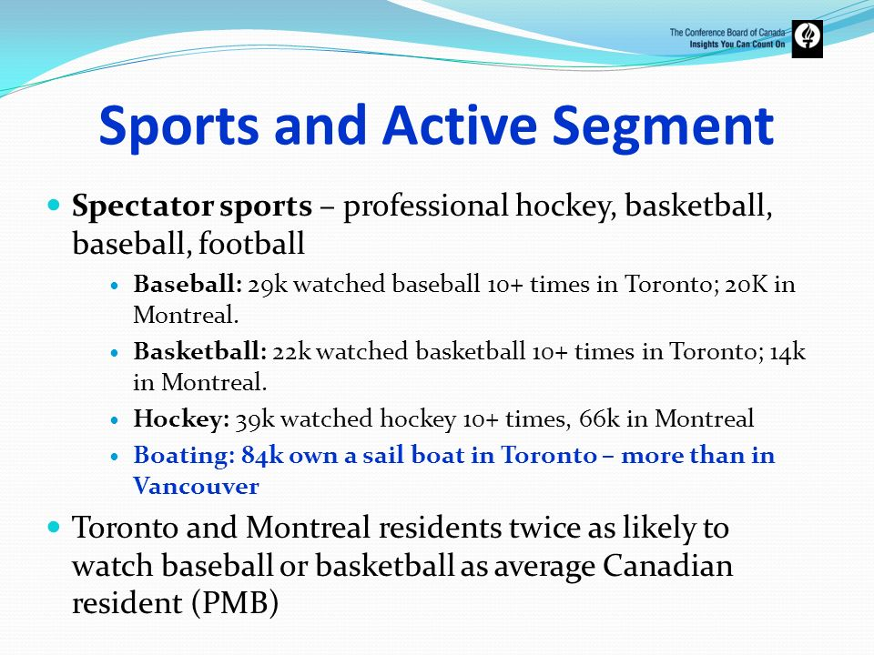 Sports and Active Segment