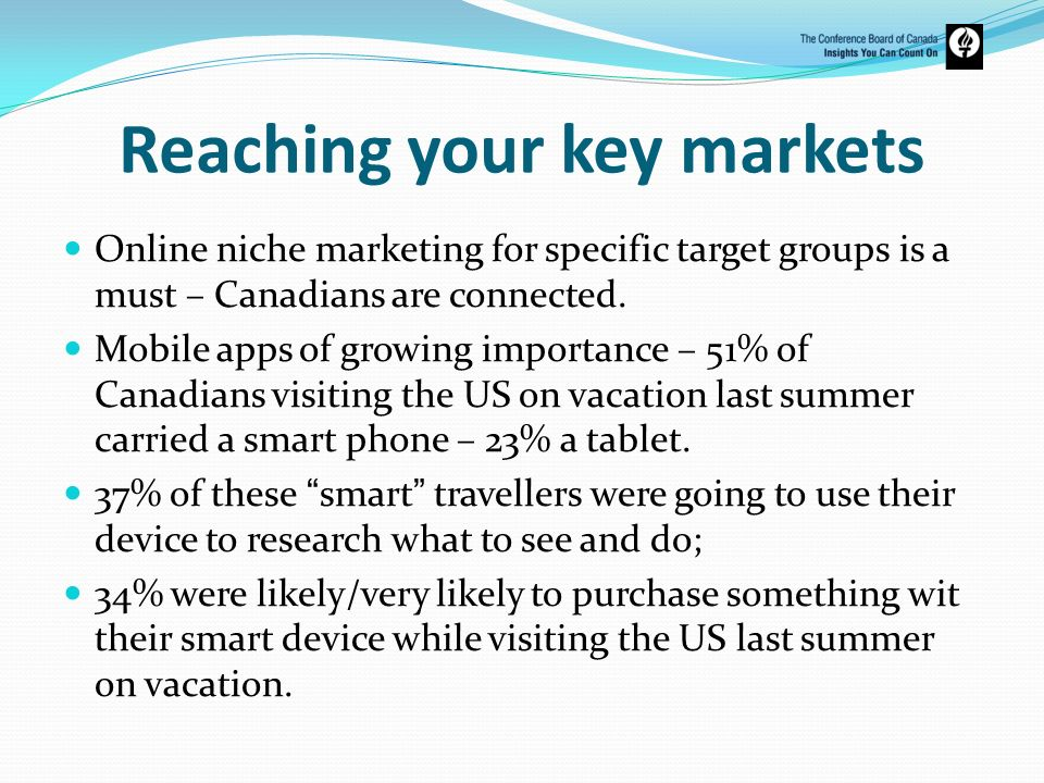 Reaching your key markets