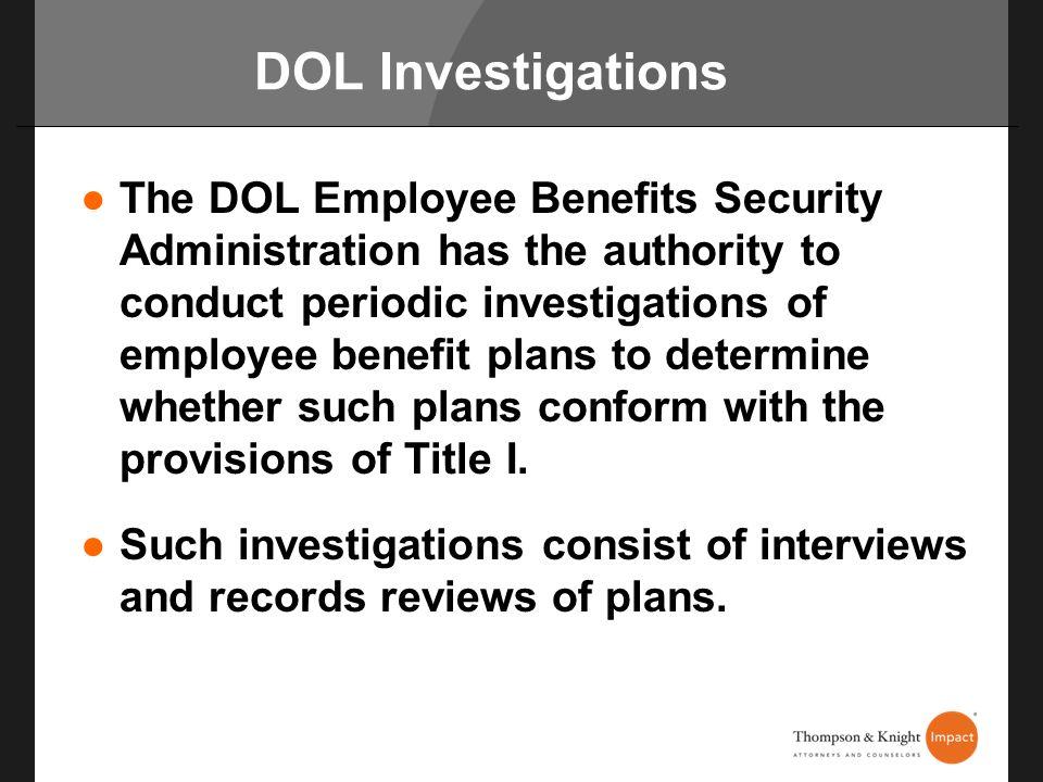 DOL Investigations