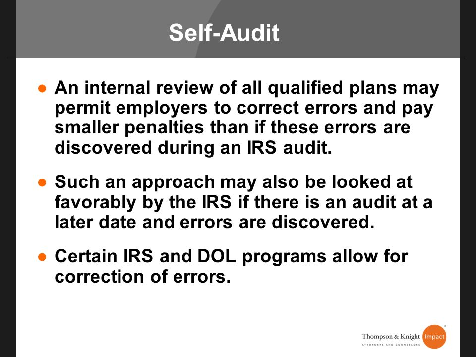 Self-Audit