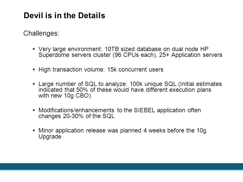 Devil is in the Details Challenges: