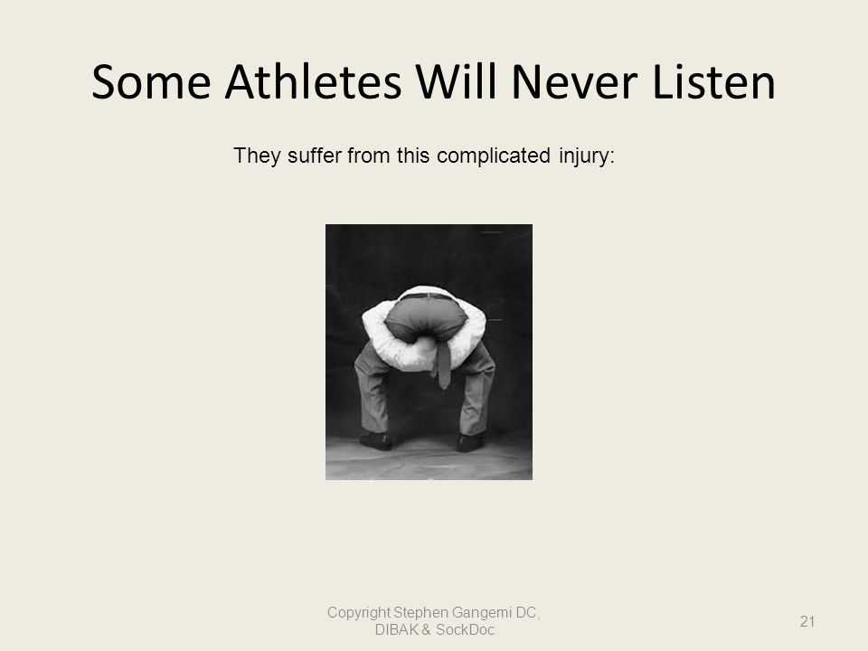 Some Athletes Will Never Listen