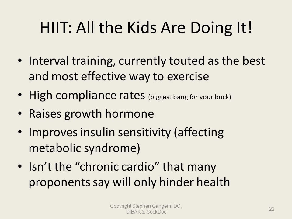 HIIT: All the Kids Are Doing It!