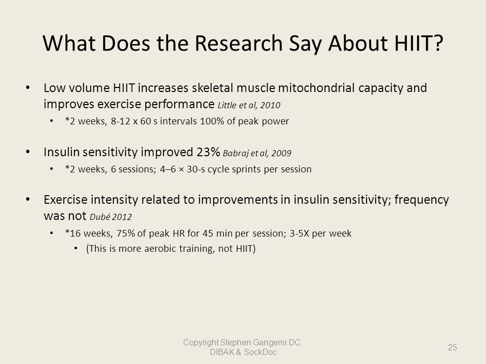 What Does the Research Say About HIIT