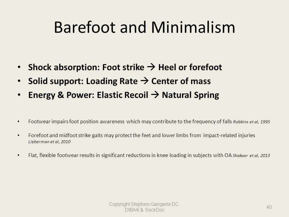 Barefoot and Minimalism