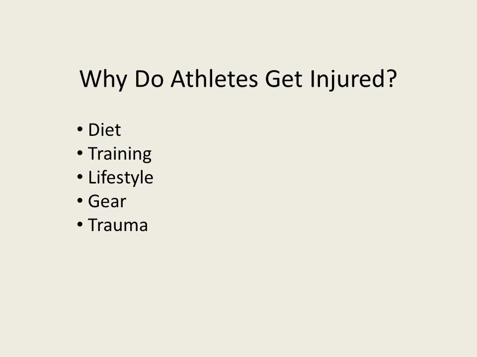 Why Do Athletes Get Injured
