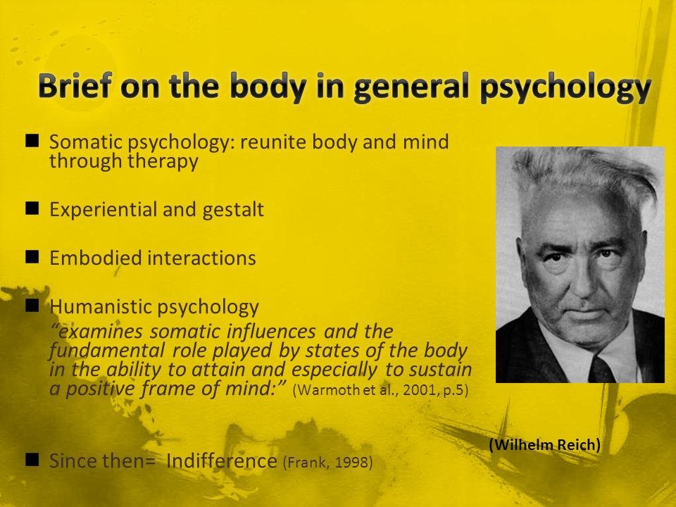 Brief on the body in general psychology