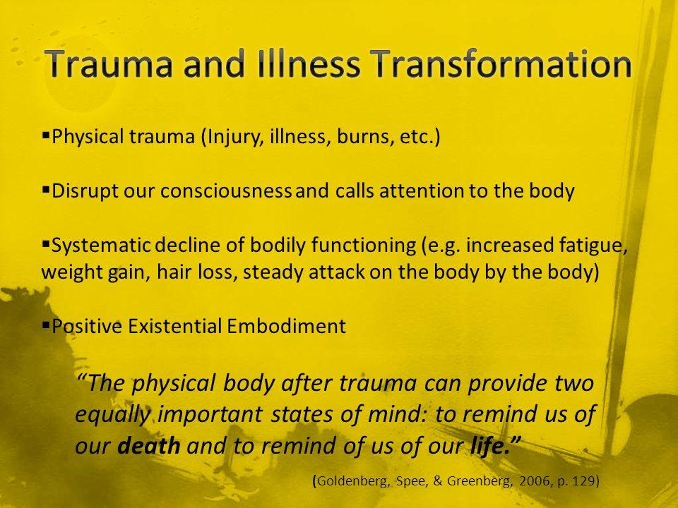 Trauma and Illness Transformation