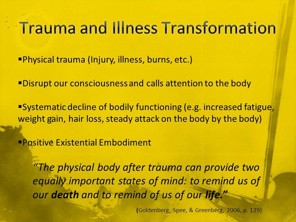 Trauma and Illness Transformation