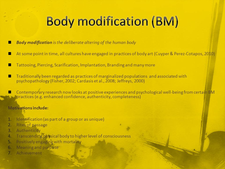 Body modification (BM)
