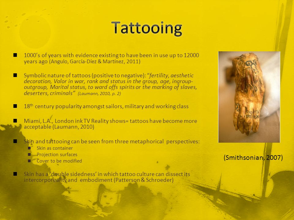 Tattooing (Smithsonian, 2007)
