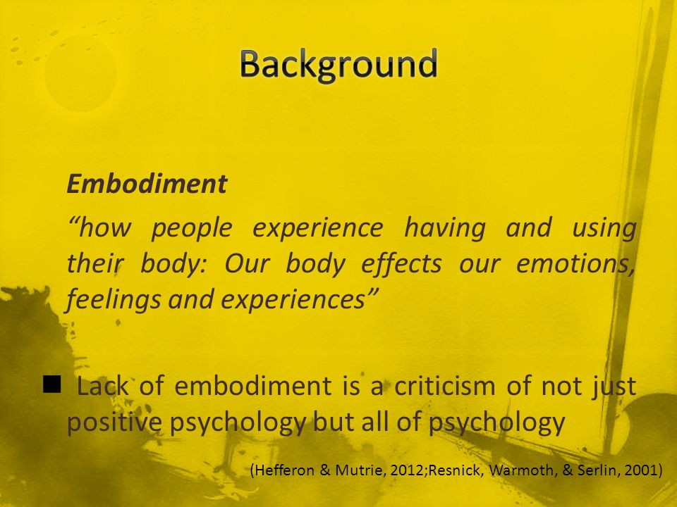 Background Embodiment