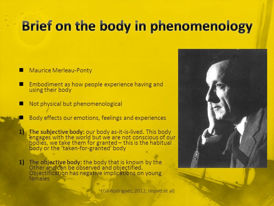 Brief on the body in phenomenology