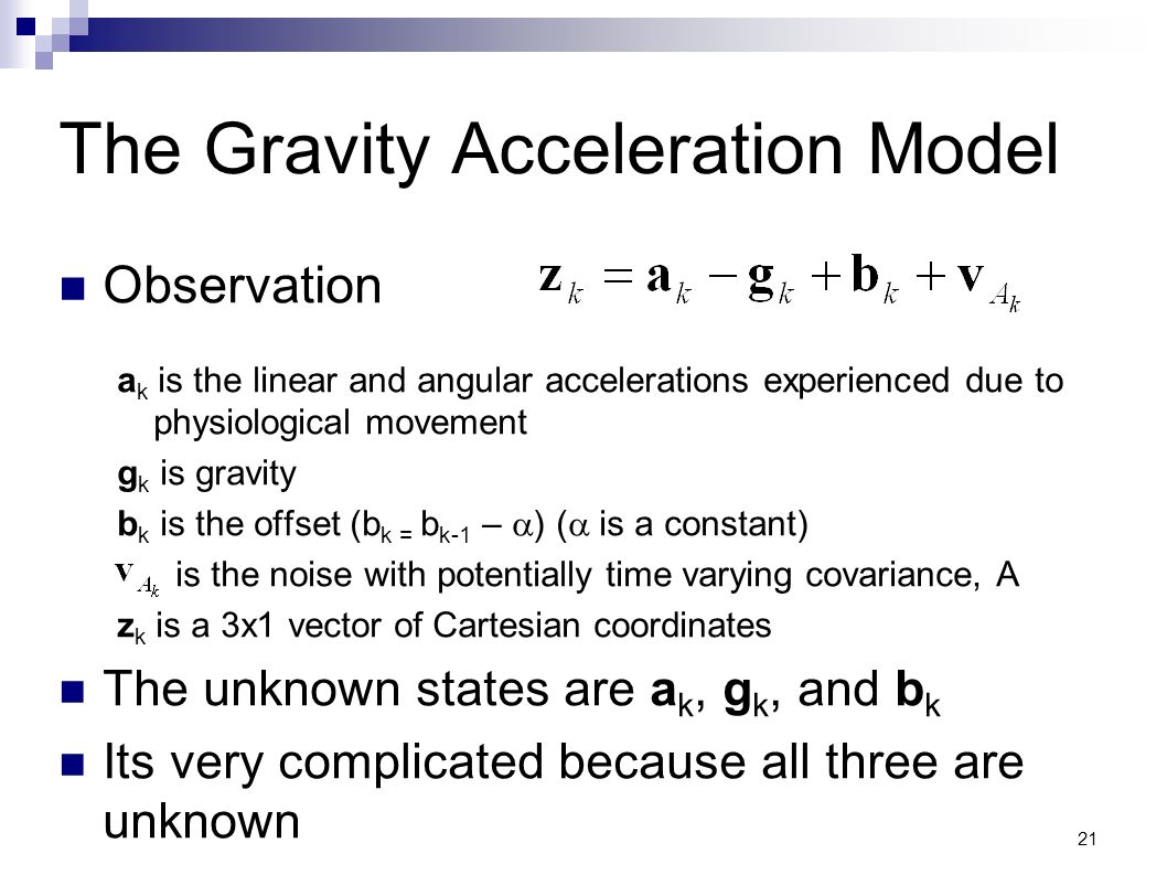 The Gravity Acceleration Model
