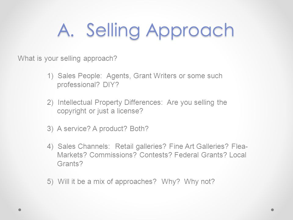 A. Selling Approach