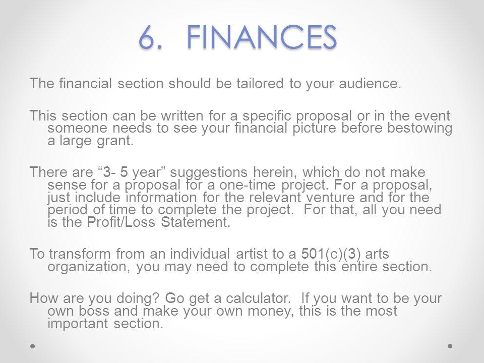 6. FINANCES