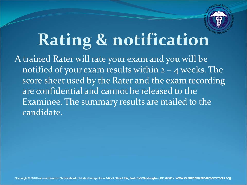 Rating & notification