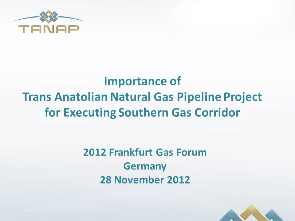 Trans Anatolian Natural Gas Pipeline Project