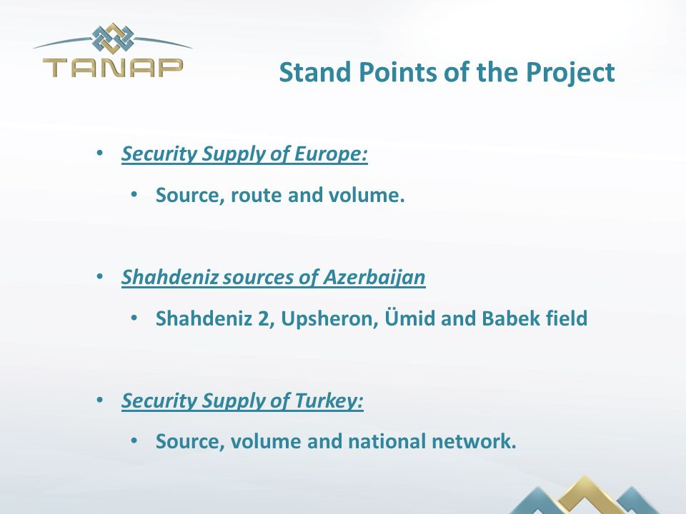 Stand Points of the Project