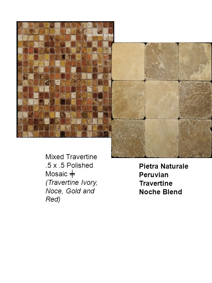 Tile options for 4x4 diagonal